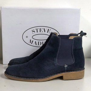 Steve Madden Brodey NAVY Suede Chelsea Boots 11
